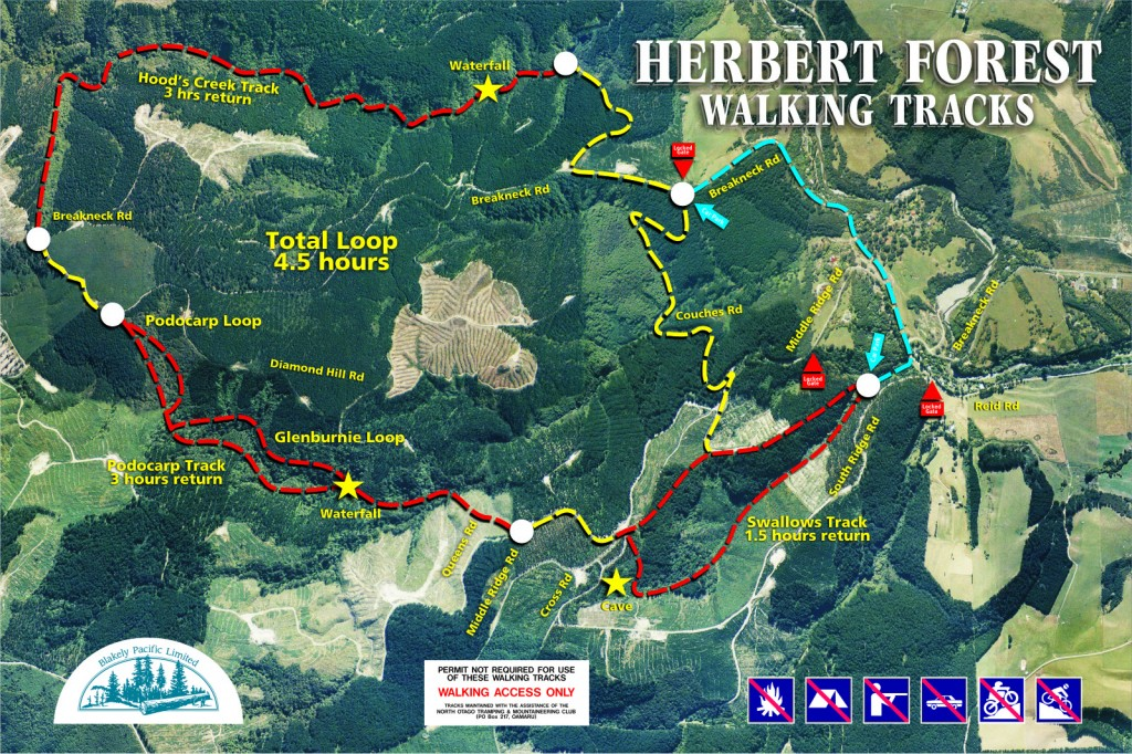 Herbert Walking Tracks Map 2012 -14